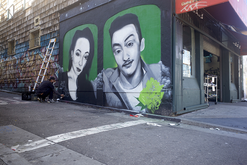 A New Clarion Alley Mural Memorializes Two Lost in the Ghost Ship Fire