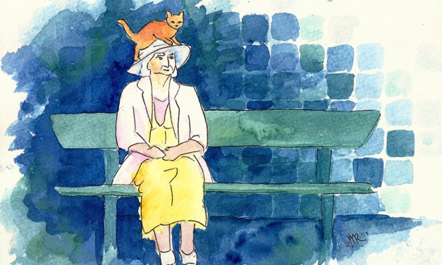 Without Permission at 16th St: past, present and a cat on her hat