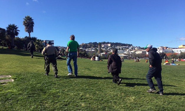 Homeless men and trash spark separate turf tussles in Dolores Park