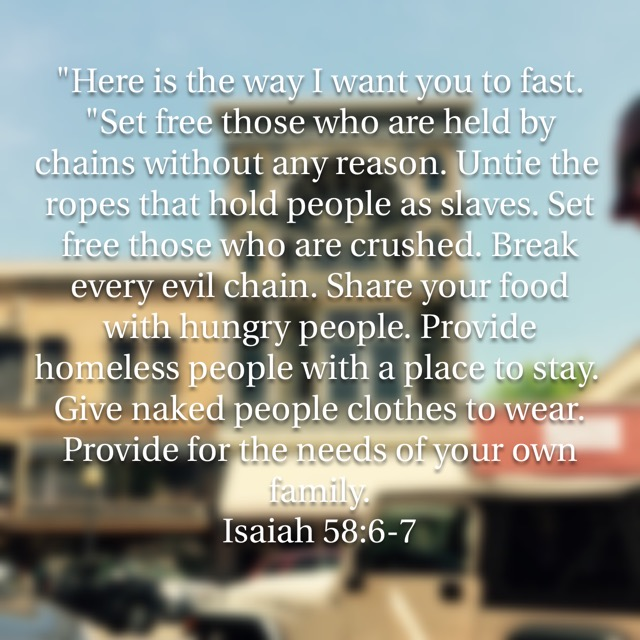 The Lord's Required Fast Isaiah 58:5-6