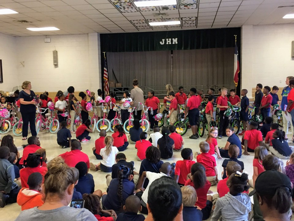 Read to Ride - Mission Marshall - J.H. Moore Elementary Marshall, TX - Students Receiving