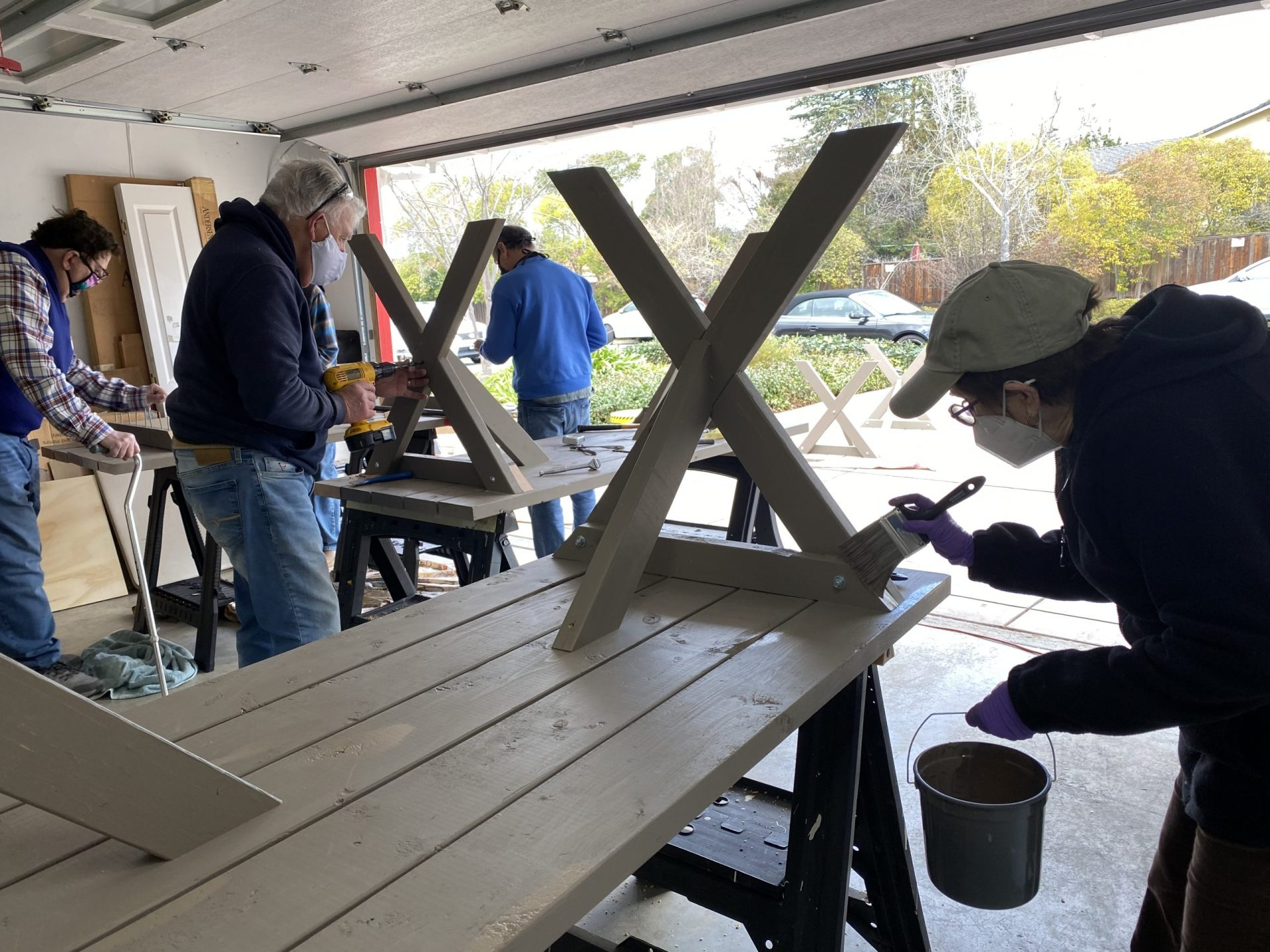 Picnic Table Building with Larry