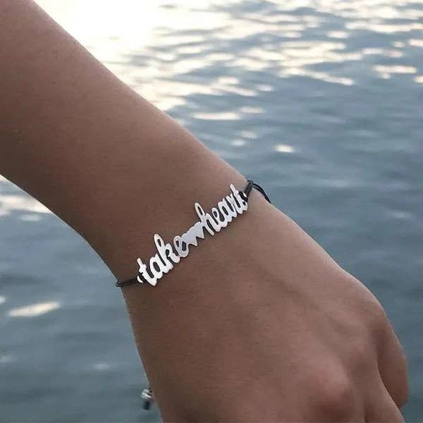 Take-Heart-Bracelet-Black-Chain