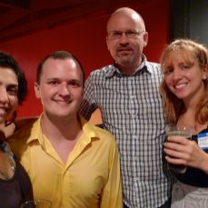 Guests Ava Eisensen, Tom Mccormick, Mike Quinn, and Meredith Packer (Founder)