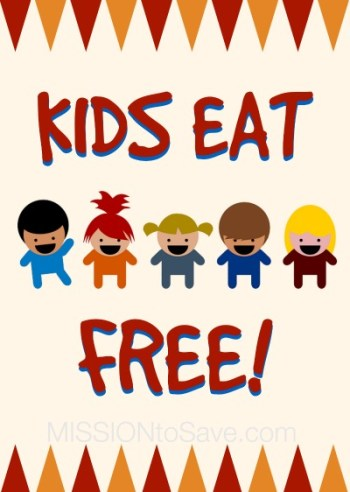 List of Kids Eat Free Offers