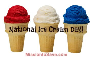national icecream day offers