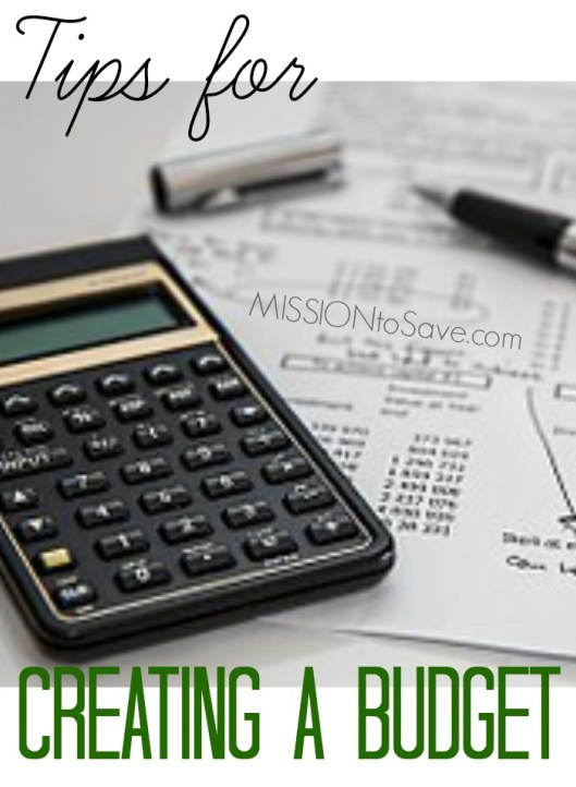 calculator and budget worksheet