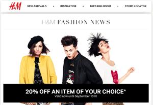H&M 20% off coupon