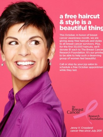 JCP Free Haircuts for Breast Cancer Survivors
