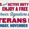 Applebee's Veterans Day Offer