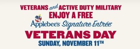 Applebee's Veterans Day Offers 2012