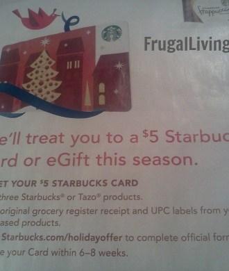 Starbucks Gift Card Offer