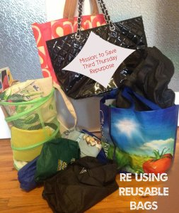 re using reusable bags