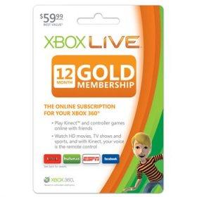 xbox live 360 gold