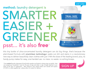 Free Sample Method Laundry Detergent