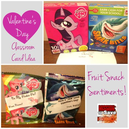 Valentine's Day Fruit Snack Sentiments. Check out this fun Valentine alternative and get free printables on MissionToSave.com