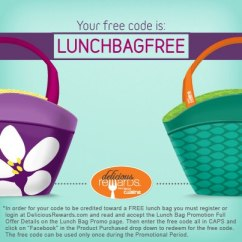Lean Cuisine Free Lunch Bag Facebook code