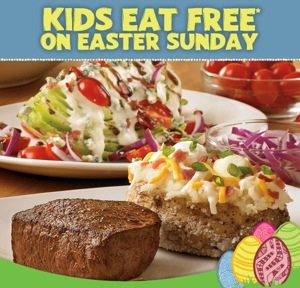 Kids Eat Free at Outback Steakhouse on Easter