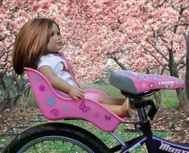 doll bicycle seat fits American girl