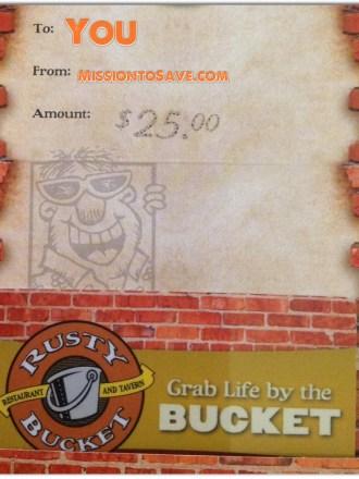$25 Rusty Bucket Gift Card Giveaway, ends 4/8! I love @MyRustyBucket!