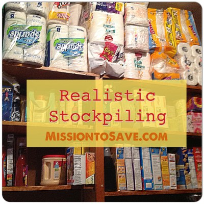 Check out these tips for realistic stockpiling. You don't have to be extreme to save money for your family!
