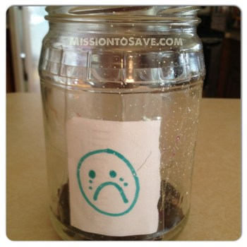 Jar with sad face