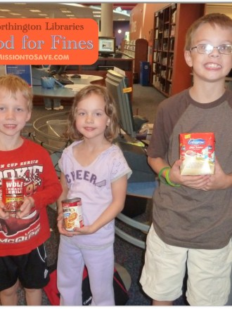Food for Fines at Worthington Libraries