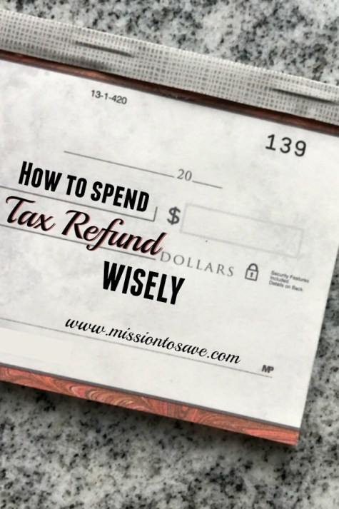 check with the words how to spend tax refund wisely