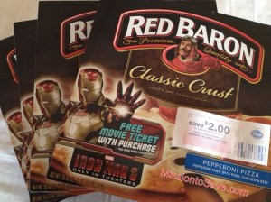 Free movie tickets from red baron