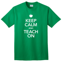 keep calm teach on teacher shirt