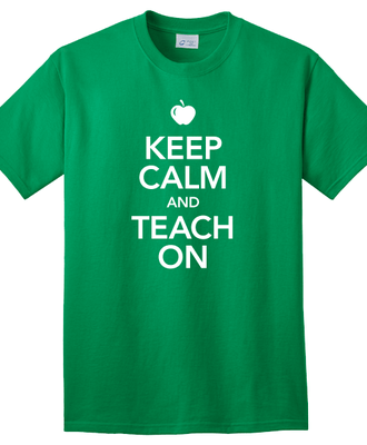 keep calm teach on teacher tshirt