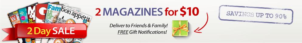 magazine subscription sale