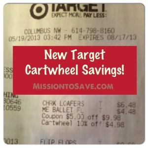Target Cartwheel savings