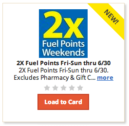Kroger 2x Fuel Points Weekends