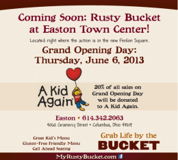 Rusty Bucket Easton Grand Opening