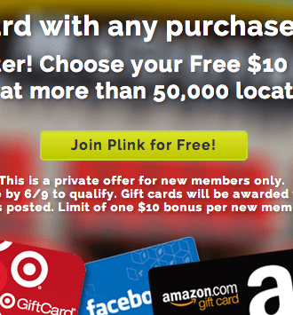 Free Gift Cards from Plink