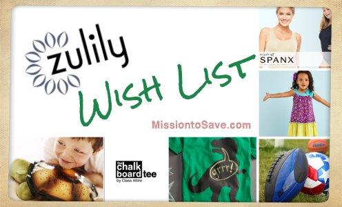 Zulily wish list