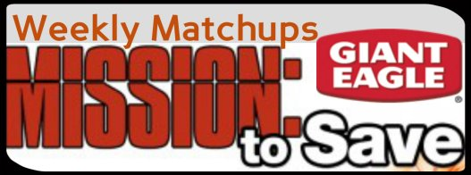 Giant Eagle Weekly Matchups