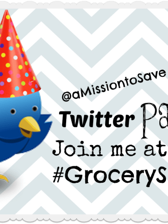 Join me for the #GrocerySavings Twitter Party on 7/9/13!
