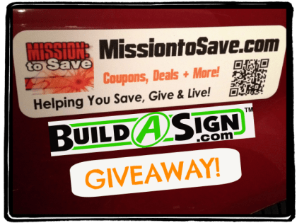 Enter to win a Build a Sign Giveaway on MissiontoSave.com