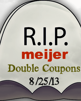 RIP meijer double coupons