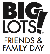 Big Lots Coupon 20% off Friends and Family Weekend