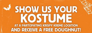 Free Krispy Kreme Doughnuts on 10/31/13