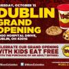Grand Opening of Moe's Southwest Grill in Dublin, Kids Eat Free 10/15
