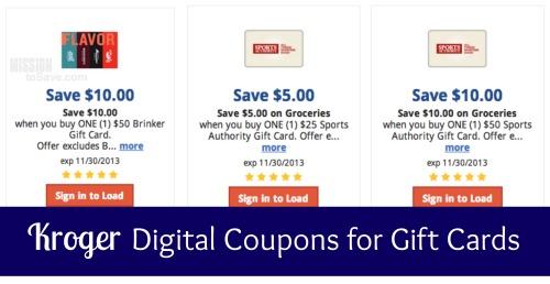 kroger digital coupons for gift cards