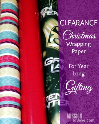 Clearance Christmas  Wrapping Paper now to use for year long gifting!
