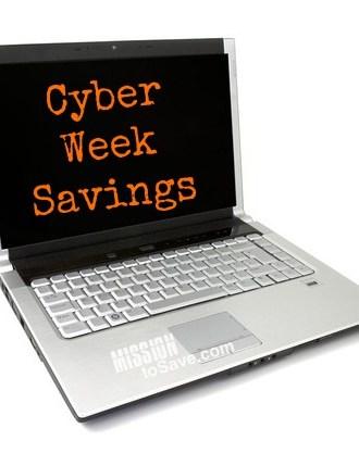 cyber week savings