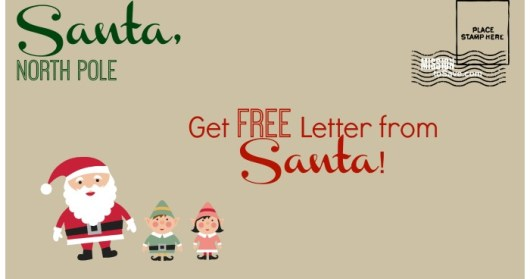 Get a Free Letter from Santa Postmarked from North Pole, send by 12/10! See details on MissionToSave.com