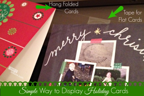 Simple Way to Display Holiday Cards