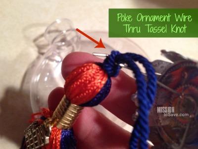 how to make graduation tassel ornament